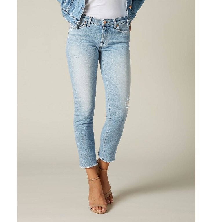 7 For All Mankind 7 For All Mankind Denim Blue The Pyper Cropped Jeans JSL41200