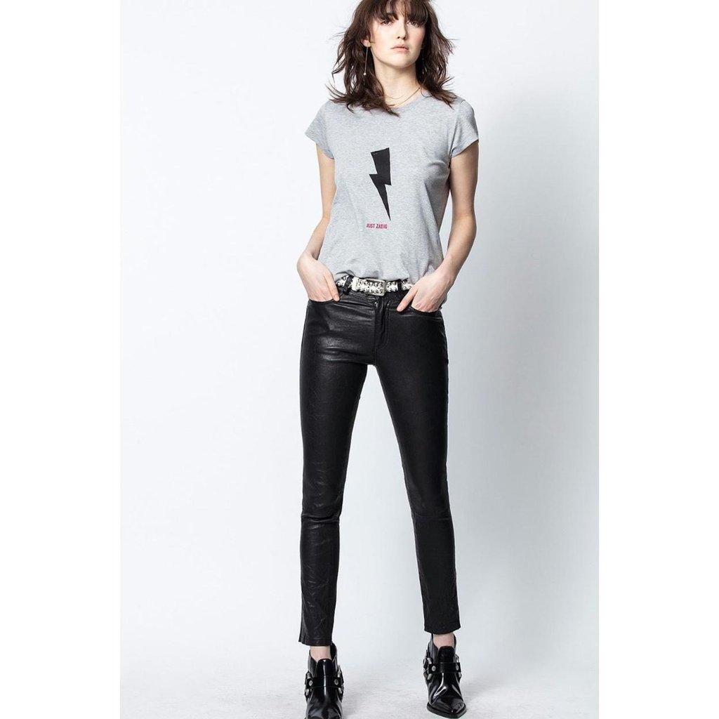 Zadig & Voltaire Grey Melee T-shirt Flashlight Just Zadig Skinny