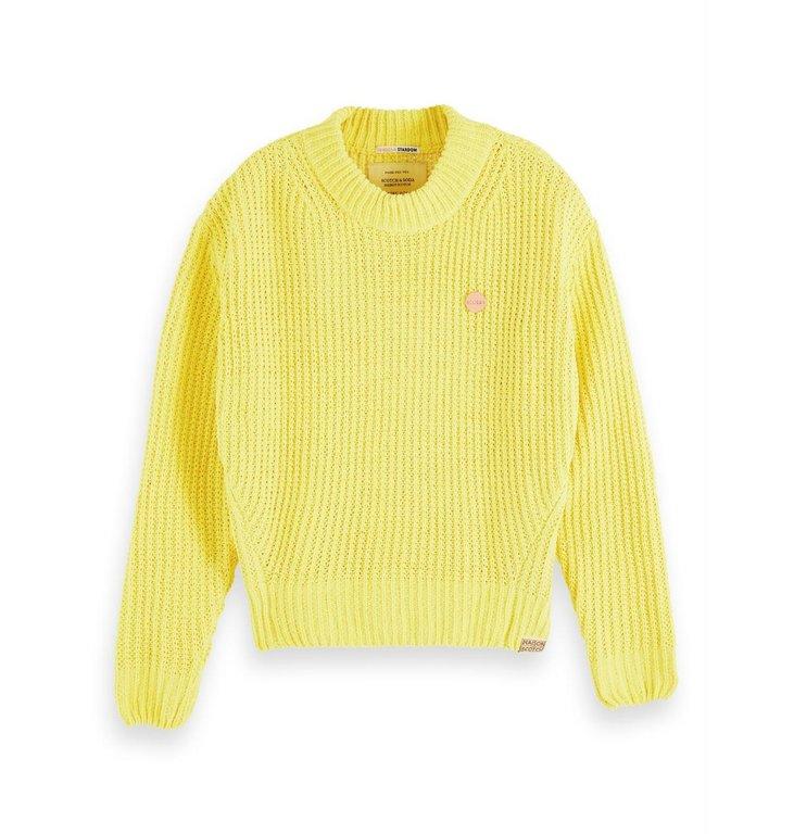 Maison Scotch Maison Scotch Yellow Solid Pullover 156269