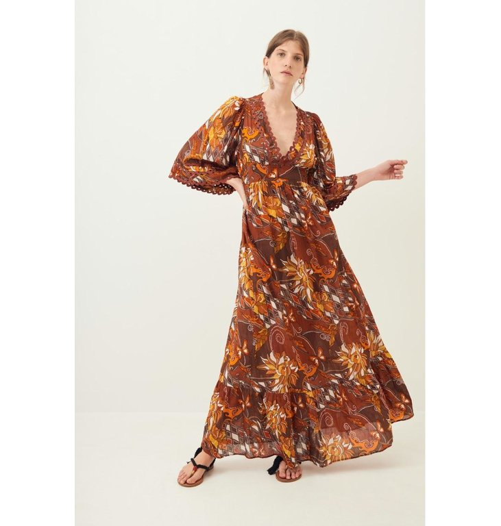 Antik Batik Antik Batik Red Dress Ramba Longdress