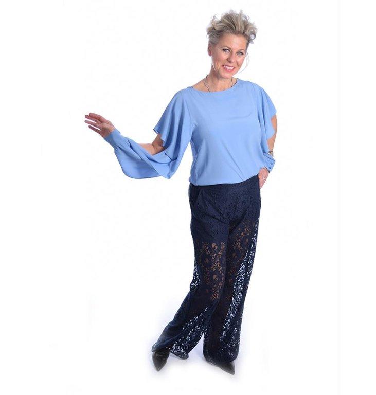 Pinko Pinko Blue Bethany Blouse 1B1336-4926