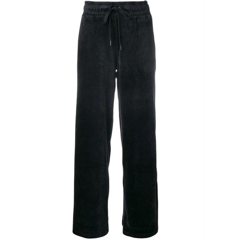 DKNY SPORT DKNY SPORT Black Wide Velours Pants DP8P-1551