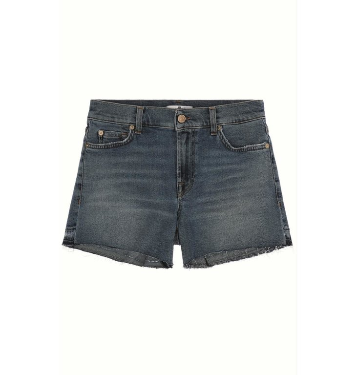7 For All Mankind 7 For All Mankind Denim Blue Mid Rise Short JSWU1200