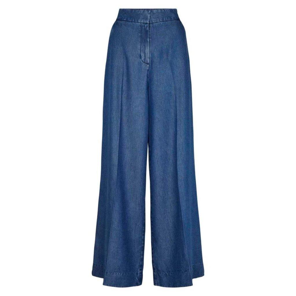 Second Female Denim Blue Pants Lyle
