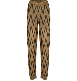 Second Female Second Female Yellow Printed Knit Trouser Ursa
