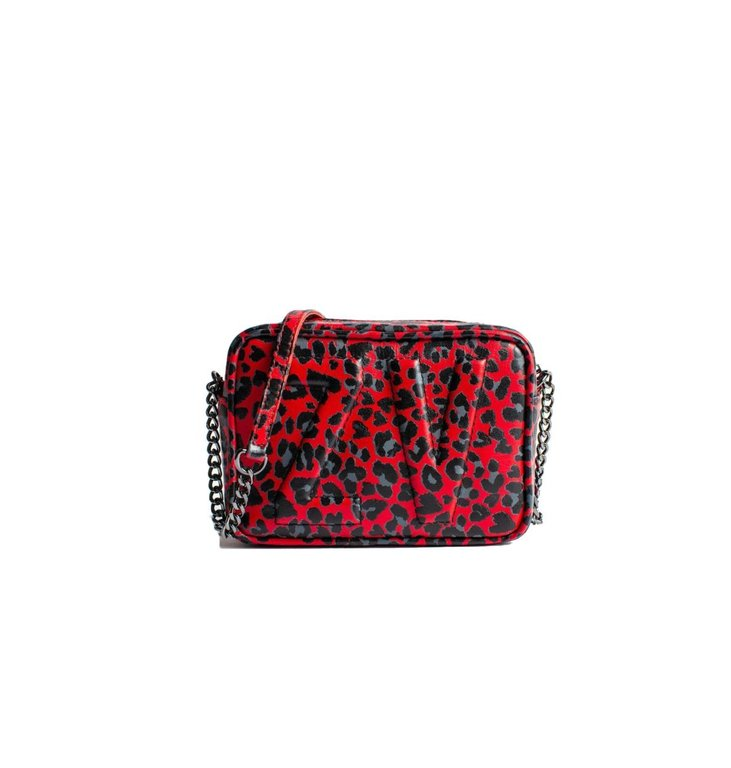Zadig & Voltaire Zadig & Voltaire Red XS Boxy Initials Leo Bag WHAD2004F