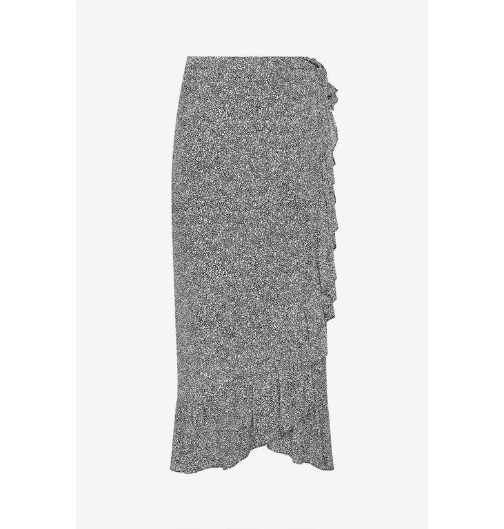 Anine Bing Anine Bing Black/White Lucky Wrap Skirt AB34-045-29