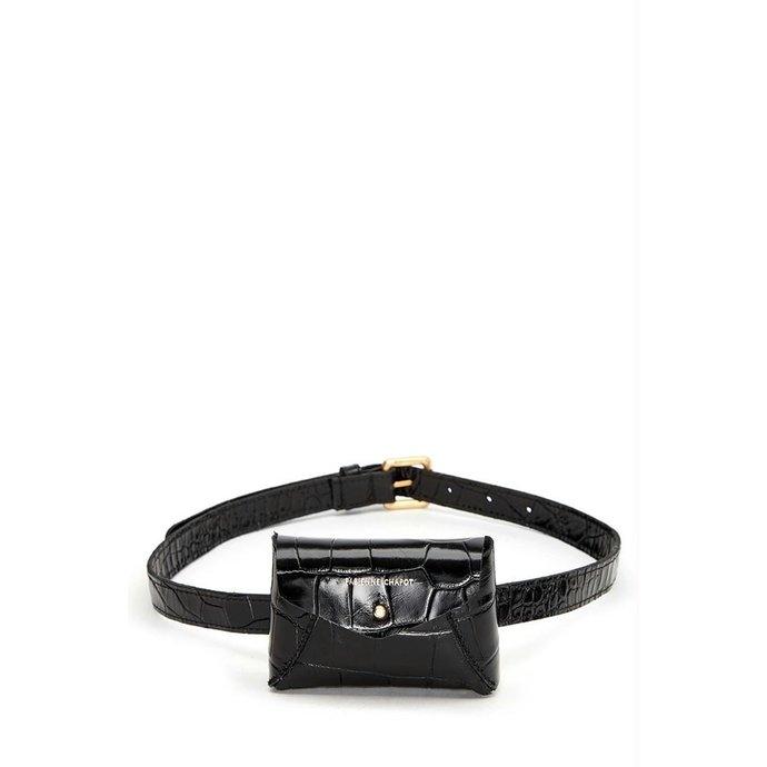 Fabienne Chapot Black Mini Purse Belt Cindy