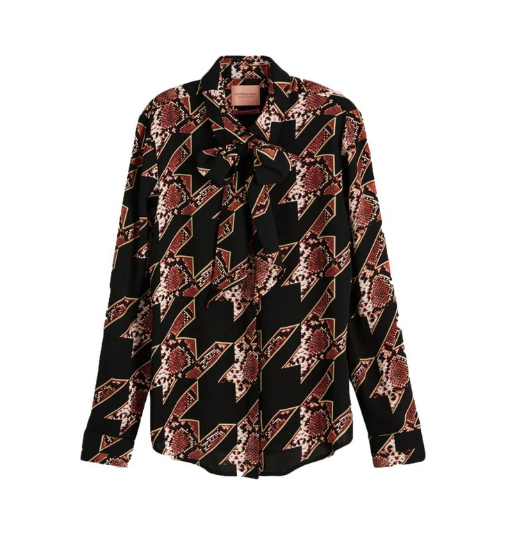 Maison Scotch Maison Scotch Snake Print Shirt 152477