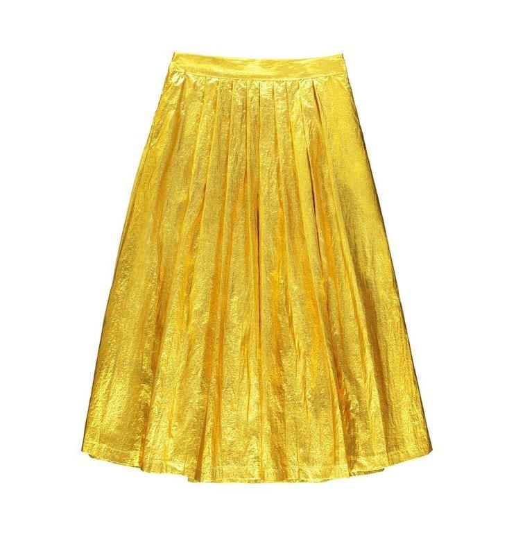 Essentiel Antwerp Essentiel Antwerp Gold Skirt Vayacondios