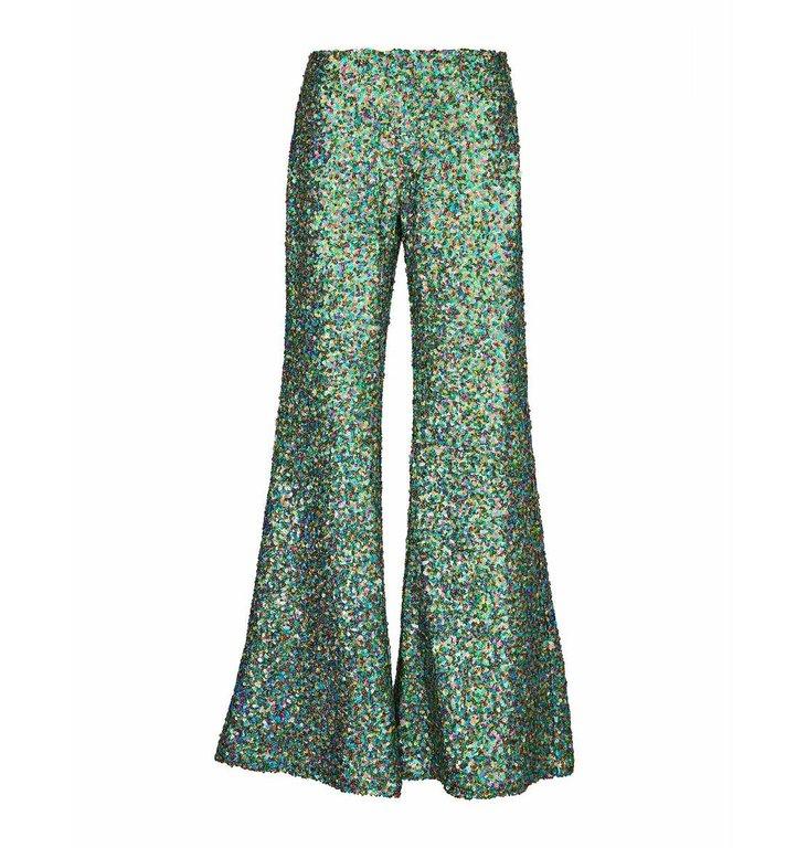 Essentiel Antwerp Essentiel Antwerp Green Sequin Pants Vuggme