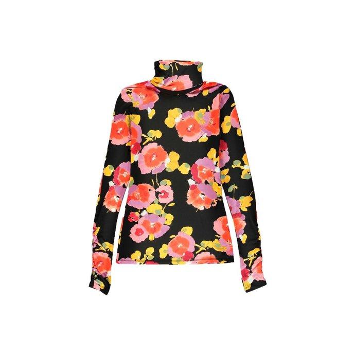 Essentiel Antwerp Black Floral Shirt Vailly