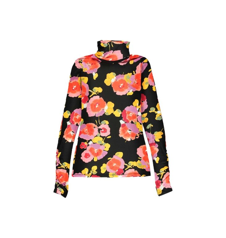 Essentiel Antwerp Essentiel Antwerp Black Floral Shirt Vailly