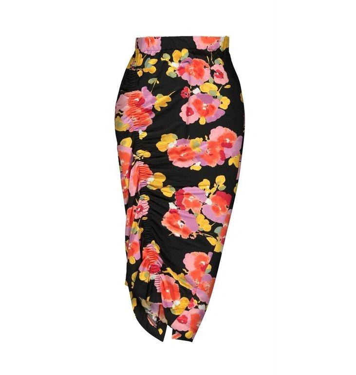 Essentiel Antwerp Essentiel Antwerp Black Floral Skirt Vignol