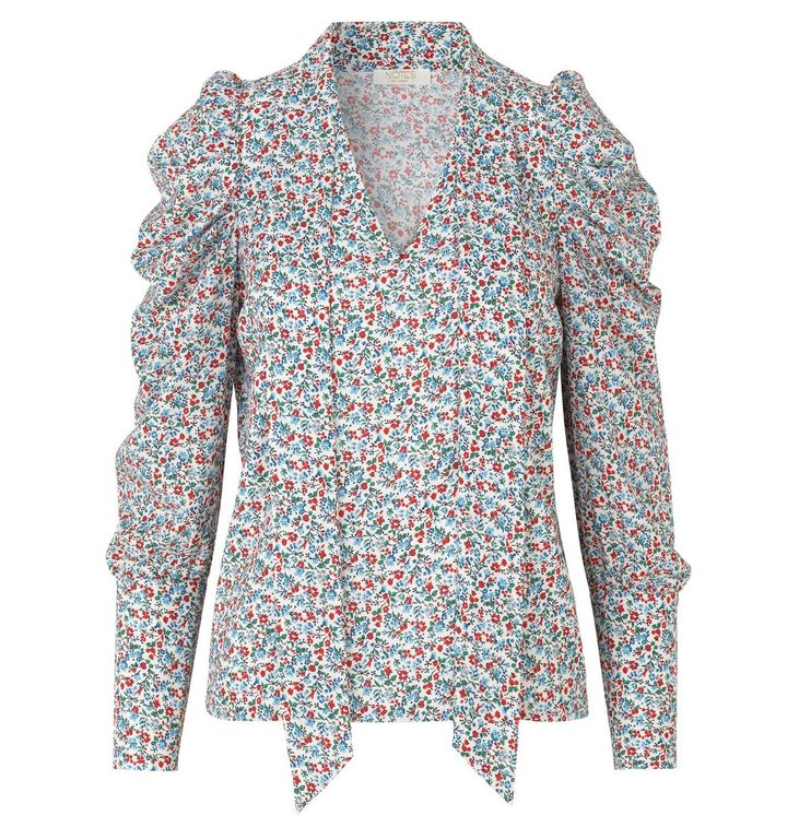 Notes du Nord Notes du Nord Blue Floral Blouse Naya