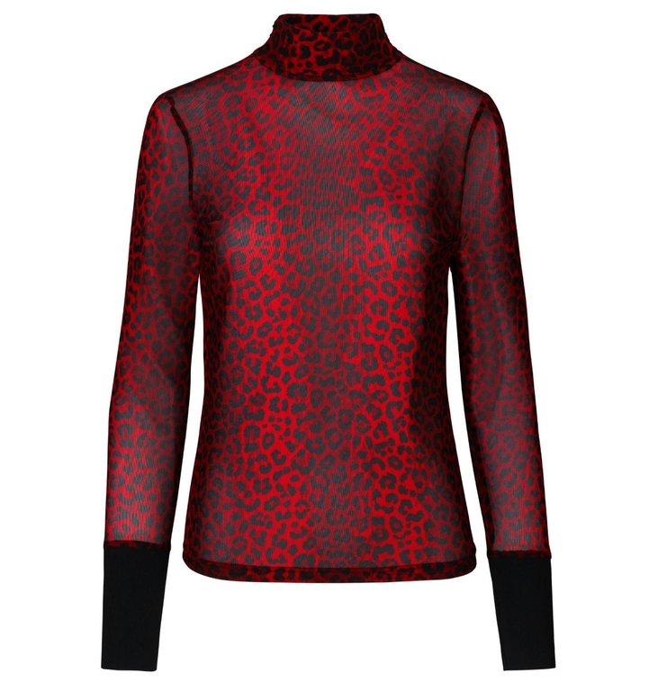 Notes du Nord Notes du Nord Red + Leopard Blouse Naomi Tneck