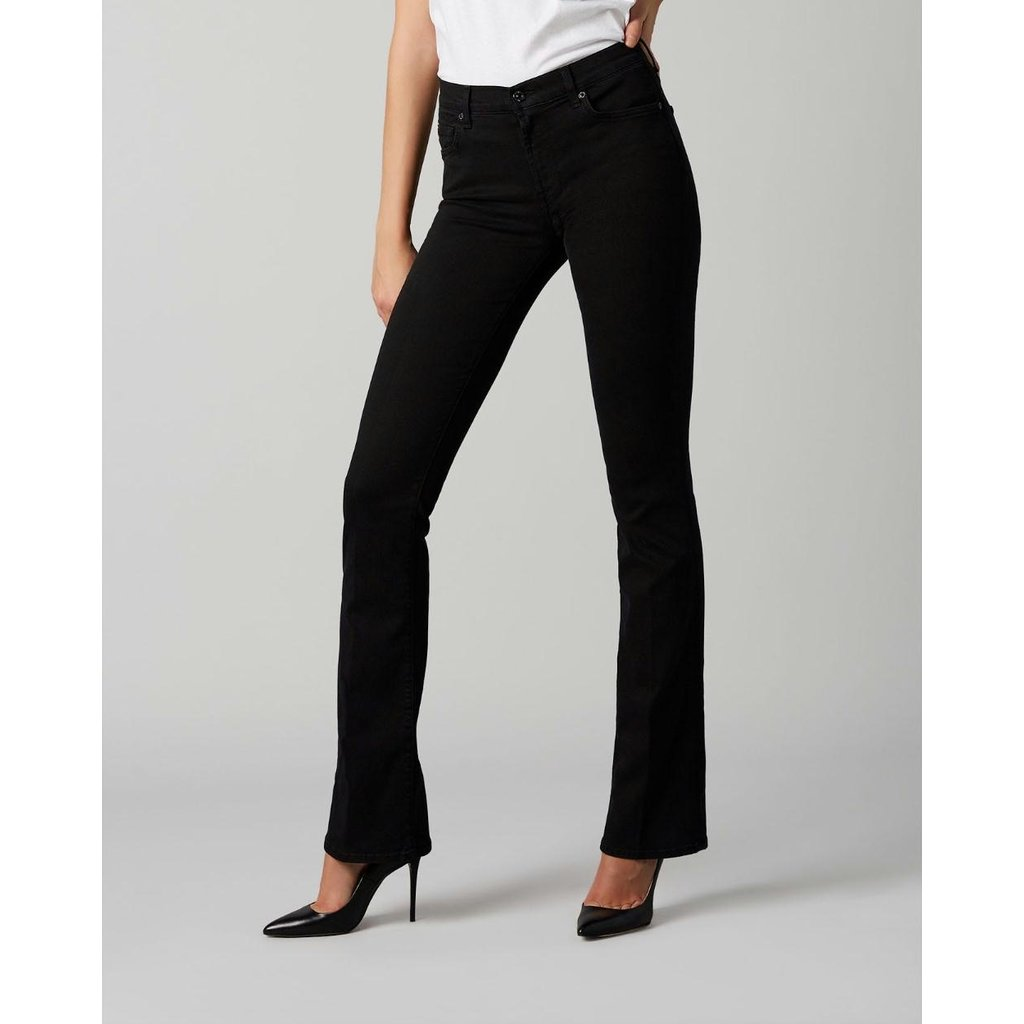 7 For All Mankind Black Bootcut Jeans JSWB9300YY