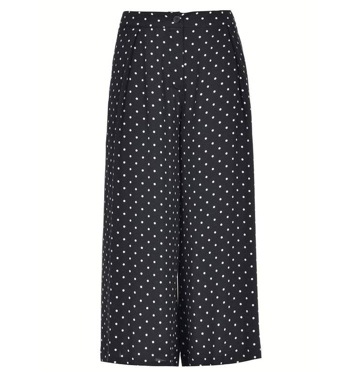 Pinko Pinko Black Culotte Trousers Crembrule