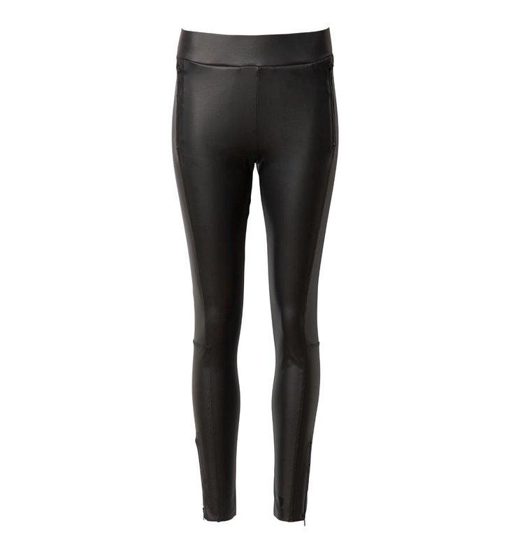 10Days 10Days Black Leatherlook Leggings Zipper 20.022.0201