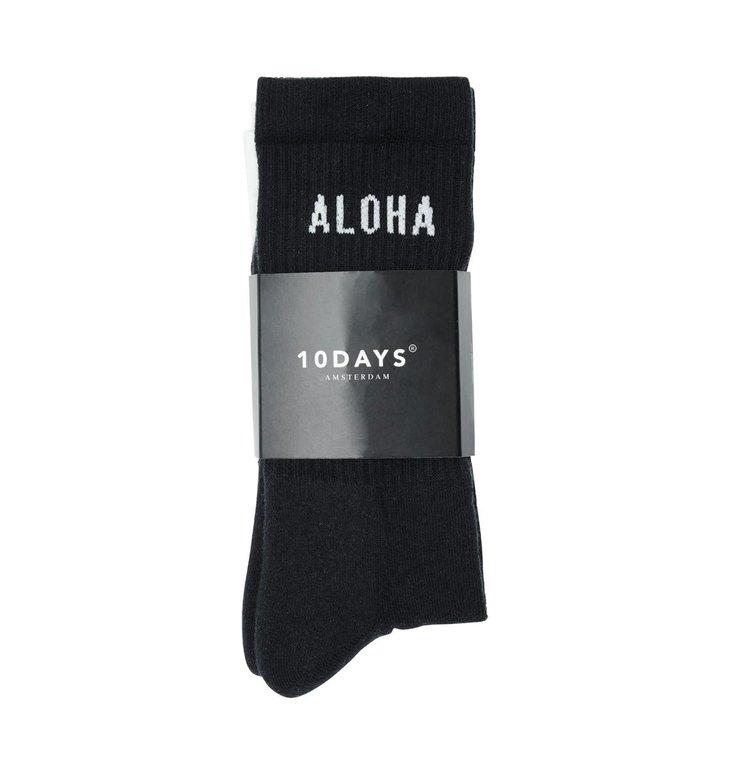 10Days 10Days Navy Blue Socks Aloha 2-Pack 20.936.0201