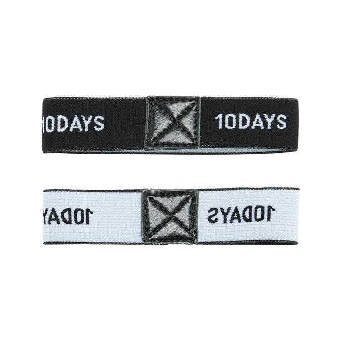 10Days Black Elastic Arm Suspender 20.941.0201