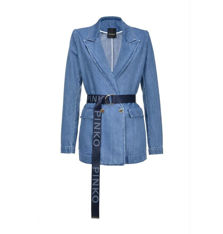 Pinko Pinko Denim Blue Blazer Jane1