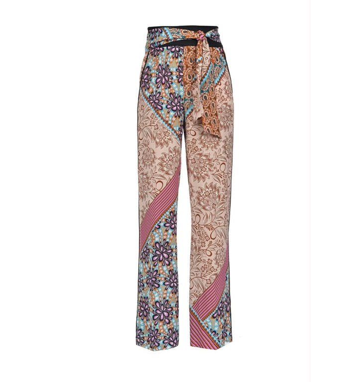 Pinko Pinko Floral Trousers Stracotto