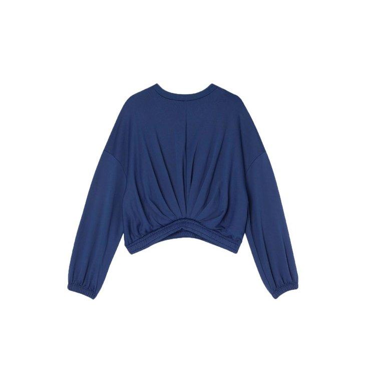 Ba&sh Ba&sh Navy Cropped Sweater Molly