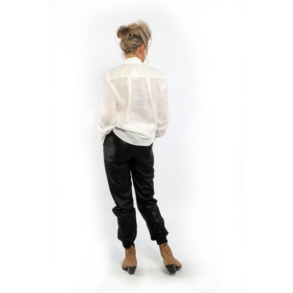 Studio AR by Arma Black Peyton Leather Trousers 015L201092