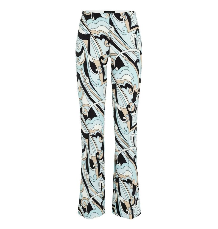 Cambio Cambio Blue/MultiColour Ros Flair Pants 6759-0350-00