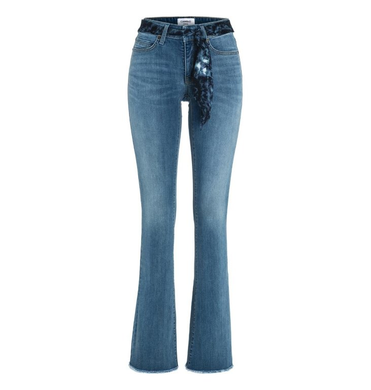 Cambio Cambio Denim Blue Parla Flaired Jeans 9182-0047-06