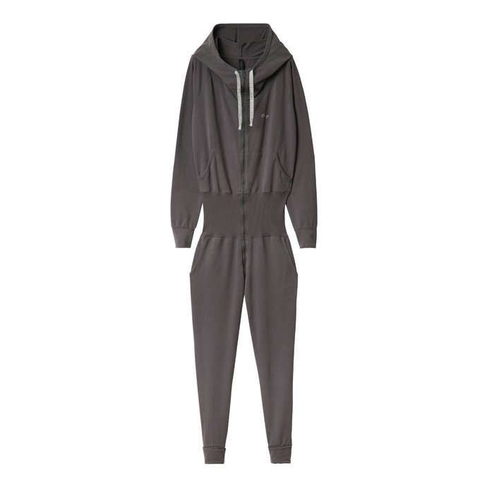 10Days Brown Grey Hooded Jumpsuit 20.081.0201/1