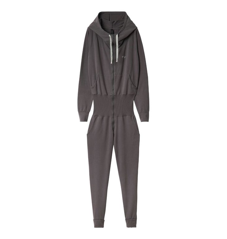 10Days 10Days Brown Grey Hooded Jumpsuit 20.081.0201/1