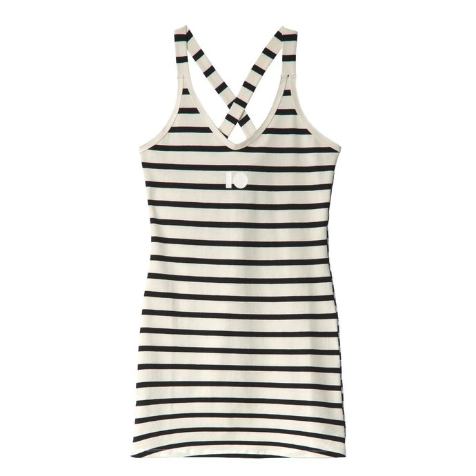 10Days Soft White/Black Wrapper Long Stripes 20.723.0201/1