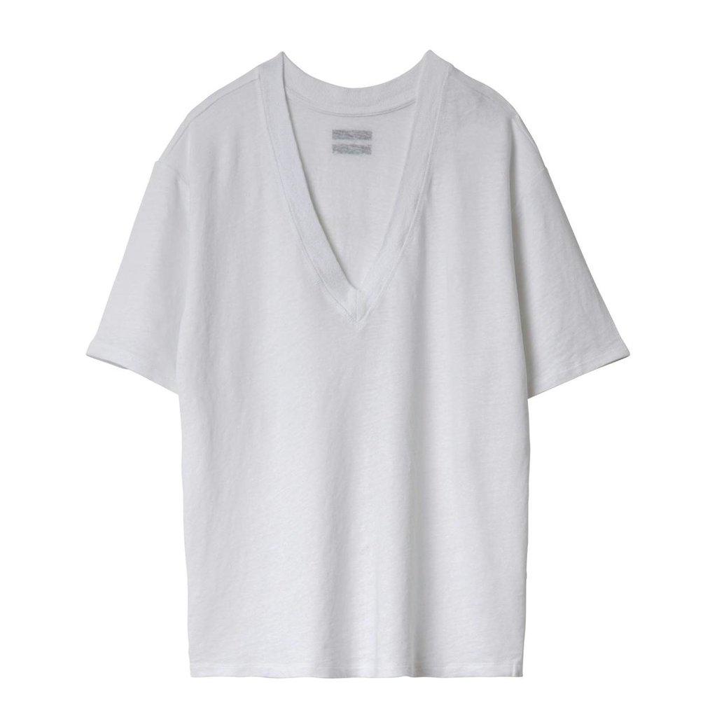 10Days White Reversible Low V-Neck Tee 20.749.0201/1