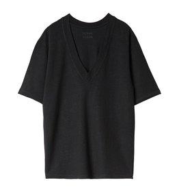 10Days 10Days Black Reversible Low V-Neck Tee 20.749.0201/1