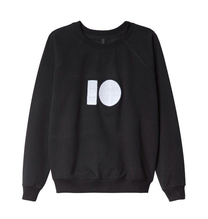 10Days 10Days Black Sweater Terry 20.802.0201/1