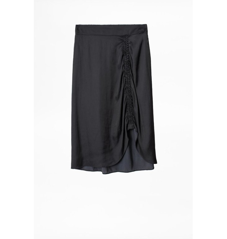 Zadig & Voltaire Zadig & Voltaire Black Skirt Jiji Satin
