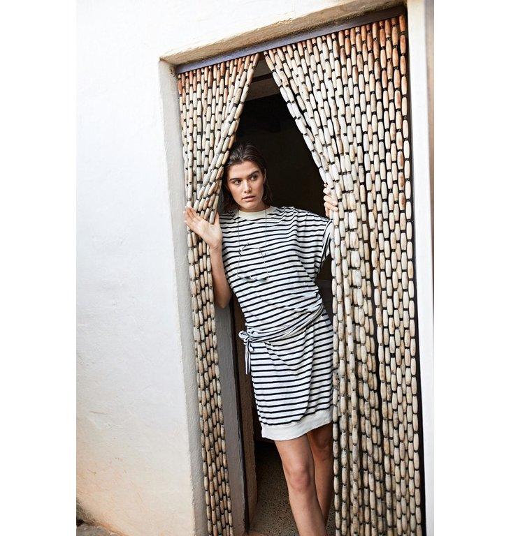 10Days 10Days Ecru/Black Belted Dress Stripes 20.340.0201/1