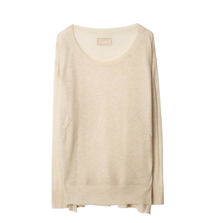 Zadig & Voltaire Zadig & Voltaire Ecru Sweater Thursday Cashmere