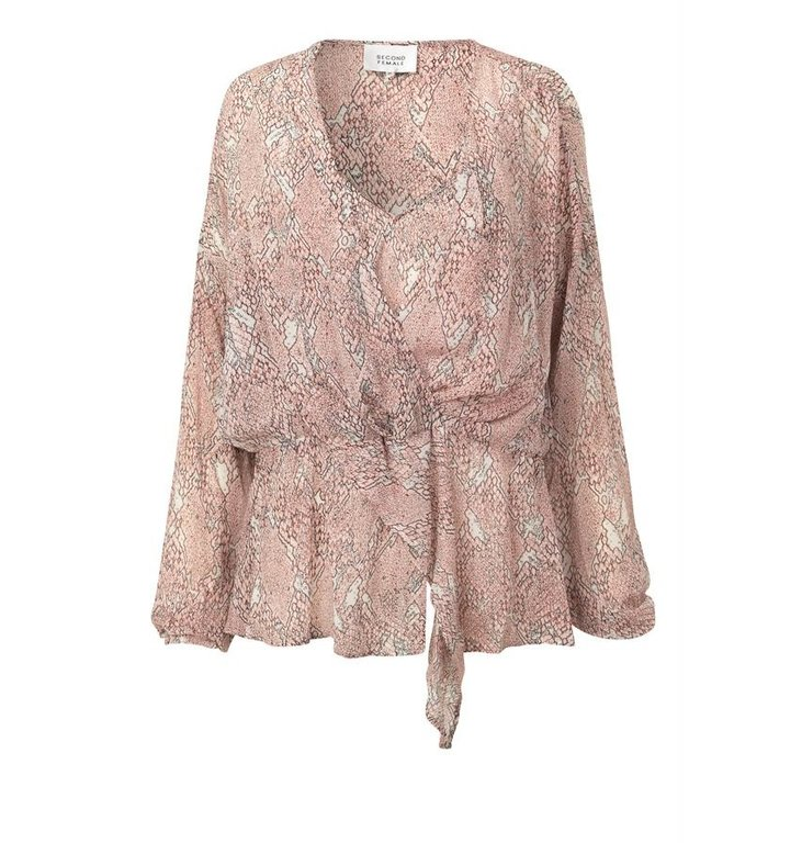 Second Female Second Female Pink Blouse Crayon LS Wrap