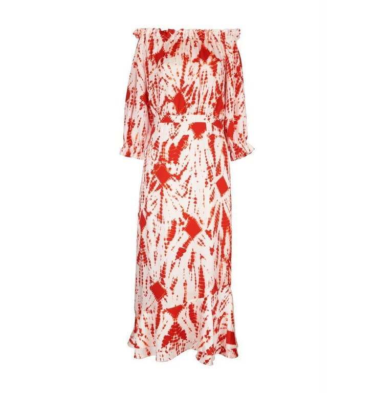 Essentiel Antwerp Essentiel Antwerp White/Red Print Dress Verde