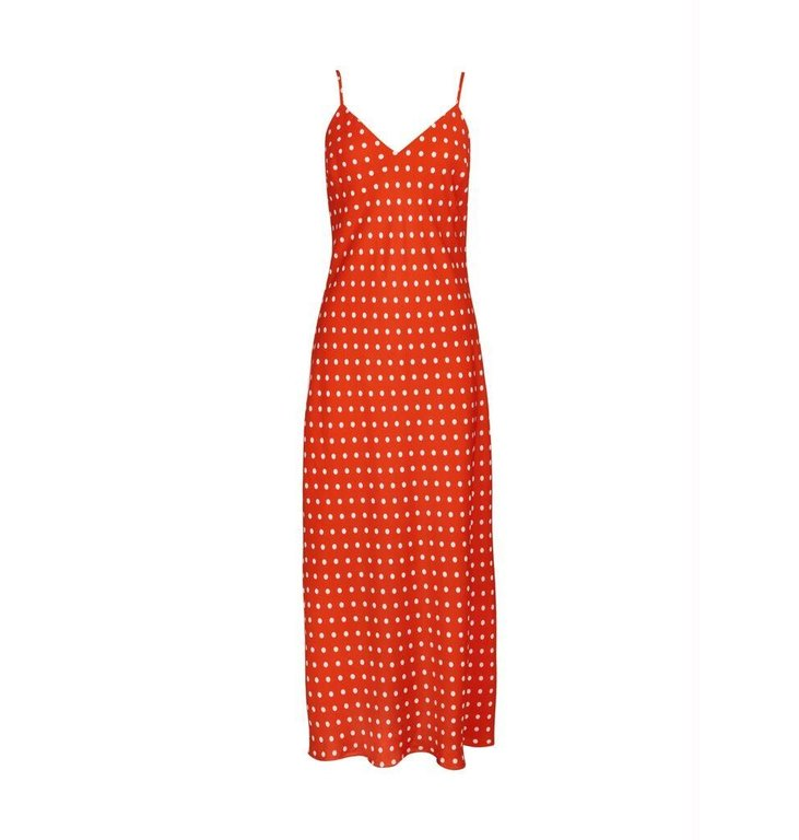 Essentiel Antwerp Essentiel Antwerp Red Dotted Dress Veva