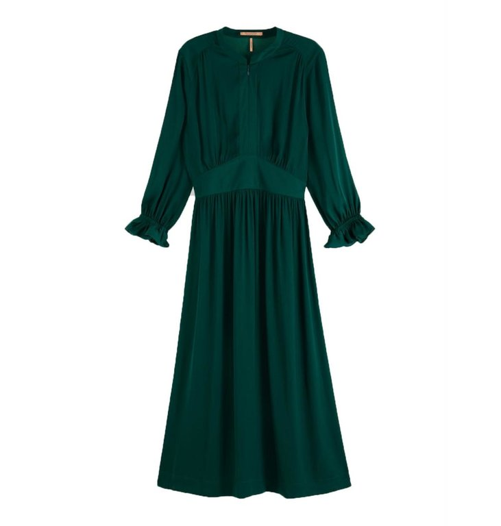 Maison Scotch Maison Scotch Green Midi Dress 158259