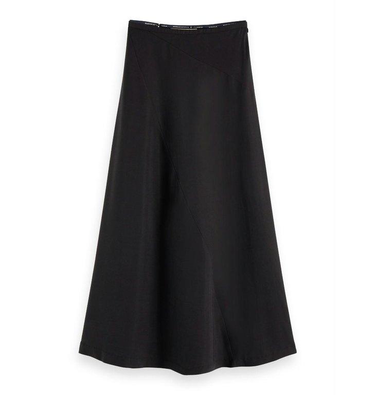 Maison Scotch Maison Scotch Black Midi Skirt 156004