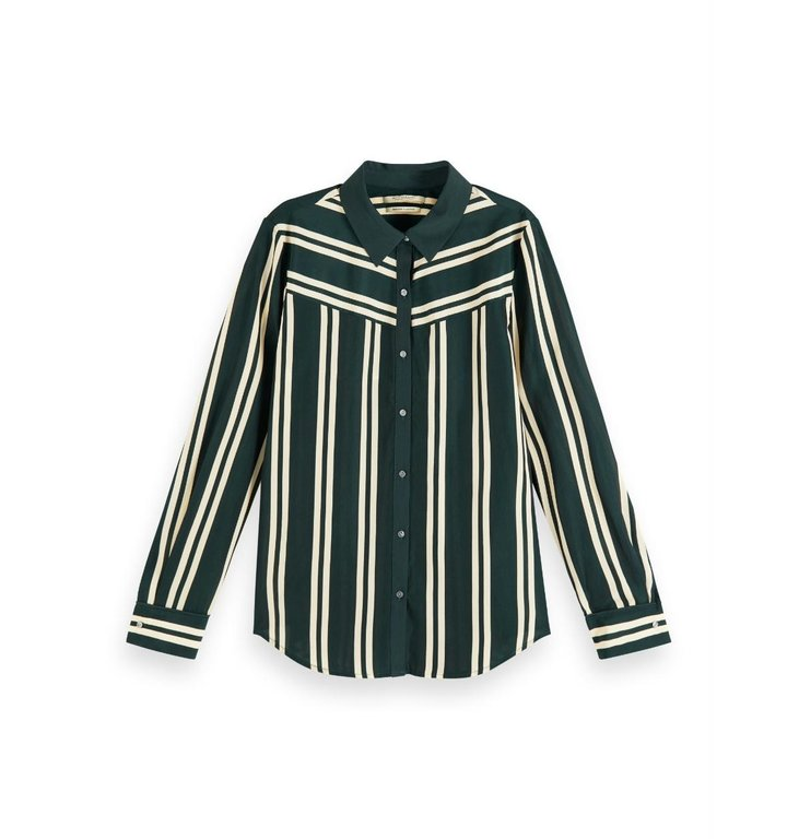 Maison Scotch Maison Scotch Striped Regular Fit Blouse 156031