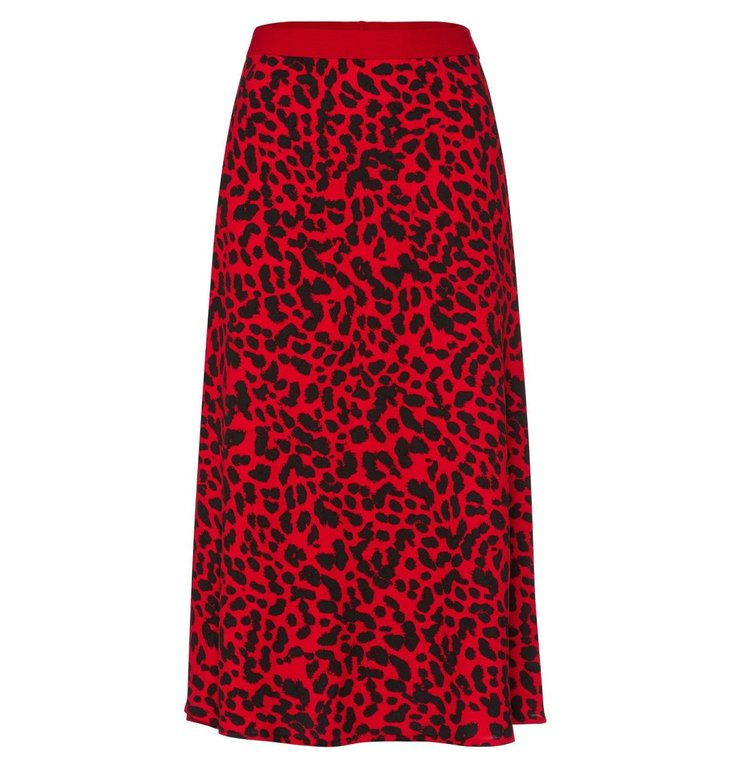 Marc Aurel Marc Aurel Red + Leopard Skirt 2177-1000-92799