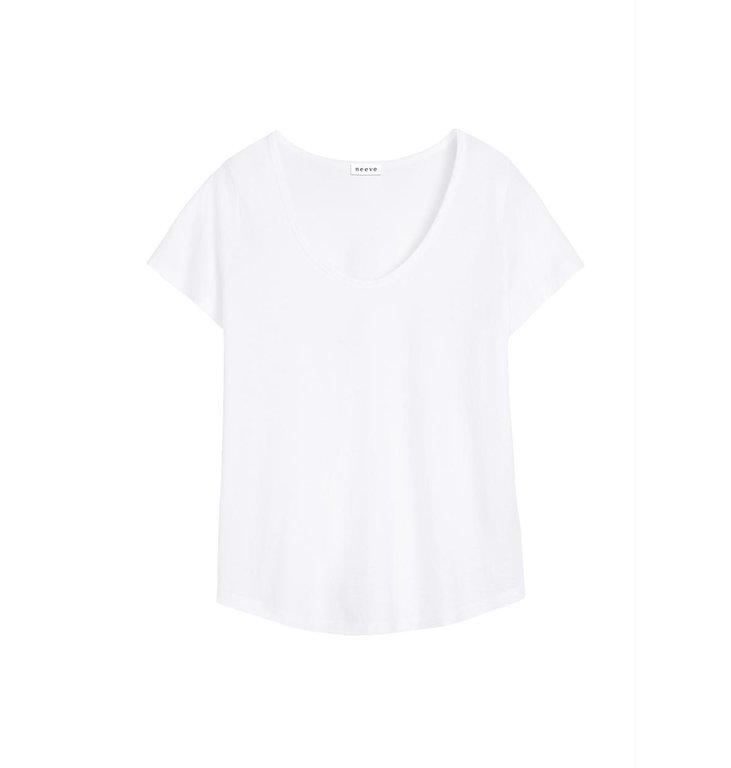 Neeve Neeve White Organic Shirt The U neck