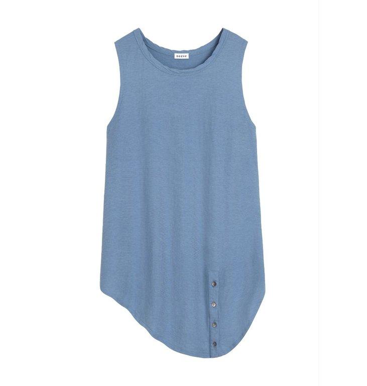 Neeve Neeve Blue Ogranis Sleeveless Top The Button Up