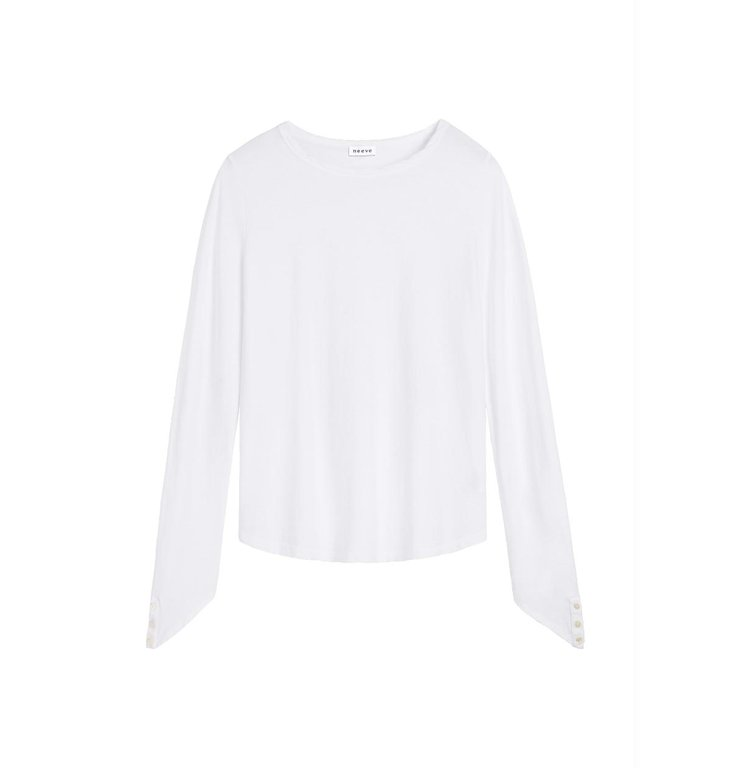 Neeve Neeve White Organic Longsleeve Shirt The Button Down